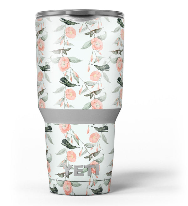 The_Coral_Flower_and_Hummingbird_All_Over_Pattern_-_Yeti_Rambler_Skin_Kit_-_30oz_-_V3.jpg