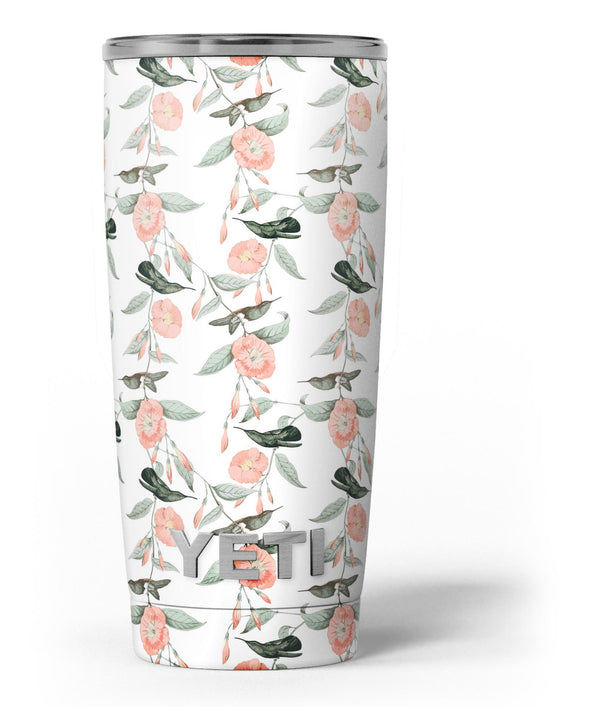 The_Coral_Flower_and_Hummingbird_All_Over_Print_-_Yeti_Rambler_Skin_Kit_-_20oz_-_V3.jpg