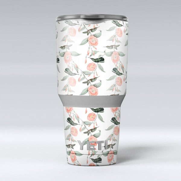 The_Coral_Flower_and_Hummingbird_All_Over_Print_-_Yeti_Rambler_Skin_Kit_-_30oz_-_V1.jpg