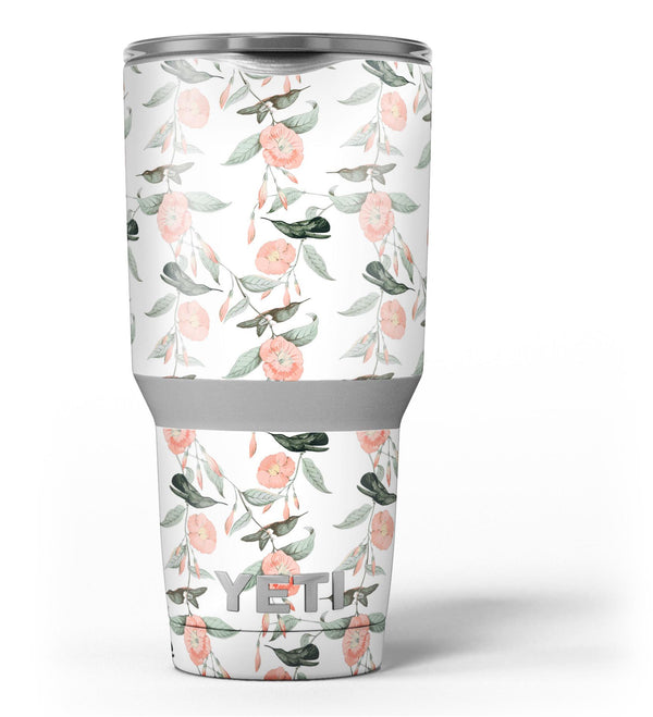 The_Coral_Flower_and_Hummingbird_All_Over_Print_-_Yeti_Rambler_Skin_Kit_-_30oz_-_V3.jpg