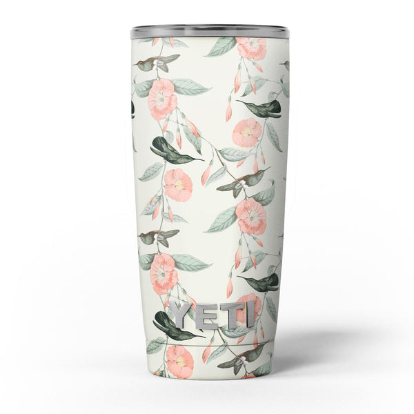The_Coral_Flower_and_Hummingbird_on_Branches_-_Yeti_Rambler_Skin_Kit_-_20oz_-_V5.jpg