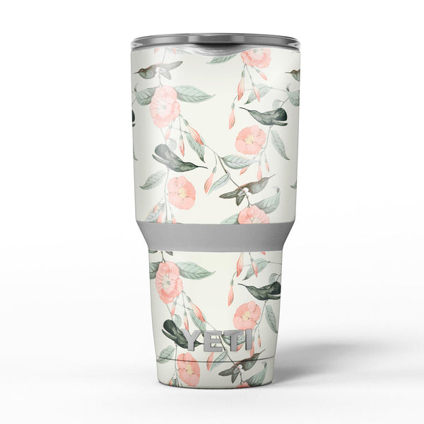 The_Coral_Flower_and_Hummingbird_on_Branches_-_Yeti_Rambler_Skin_Kit_-_30oz_-_V5.jpg