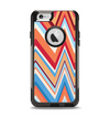 The Coral & Red Chevron Zig Zag Pattern V43 Apple iPhone 6 Otterbox Commuter Case Skin Set