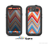The Coral & Red Chevron Zig Zag Pattern V43 Skin For The Samsung Galaxy S3 LifeProof Case