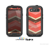 The Coral Vintage Chevron Pattern V1 Skin For The Samsung Galaxy S3 LifeProof Case