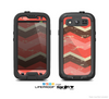 The Coral Vintage Chevron Pattern V4 Skin For The Samsung Galaxy S3 LifeProof Case
