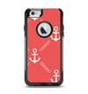 The Coral & White Vintage Solid Color Anchor Linked Apple iPhone 6 Otterbox Commuter Case Skin Set