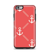 The Coral & White Vintage Solid Color Anchor Linked Apple iPhone 6 Plus Otterbox Symmetry Case Skin Set