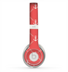 The Coral & White Vintage Solid Color Anchor Linked copy Skin for the Beats by Dre Solo 2 Headphones