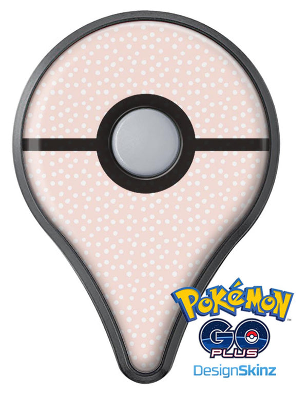 The Coral and White Micro Polka Dots Pokémon GO Plus Vinyl Protective Decal Skin Kit