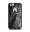 The Cracked Black Planks of Wood Apple iPhone 6 Otterbox Defender Case Skin Set