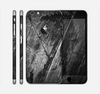 The Cracked Black Planks of Wood Skin for the Apple iPhone 6 Plus