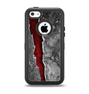 The Cracked Red Core Apple iPhone 5c Otterbox Defender Case Skin Set