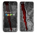 The Cracked Red Core Skin for the Apple iPhone 5c