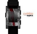 The Cracked Red Core Skin for the Pebble SmartWatch