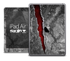 The Cracked Red Stone Skin for the iPad Air