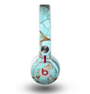 The Cracked Teal Stone Skin for the Beats by Dre Mixr Headphones