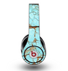 The Cracked Teal Stone Skin for the Original Beats by Dre Studio Headphones