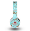 The Cracked Teal Stone Skin for the Original Beats by Dre Wireless Headphones