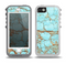 The Cracked Teal Stone Skin for the iPhone 5-5s OtterBox Preserver WaterProof Case
