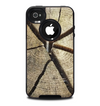 The Cracked Wooden Stump Skin for the iPhone 4-4s OtterBox Commuter Case