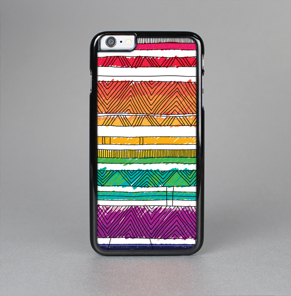 The Crayon Colored Doodle Patterns Skin-Sert Case for the Apple iPhone 6 Plus