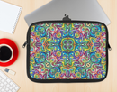 The Crazy Neon Mirrored Swirls Ink-Fuzed NeoPrene MacBook Laptop Sleeve