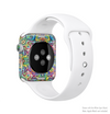 The Crazy Neon Mirrored Swirls Full-Body Skin Kit for the Apple Watch