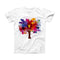 The Crazy Splatter Tree ink-Fuzed Front Spot Graphic Unisex Soft-Fitted Tee Shirt