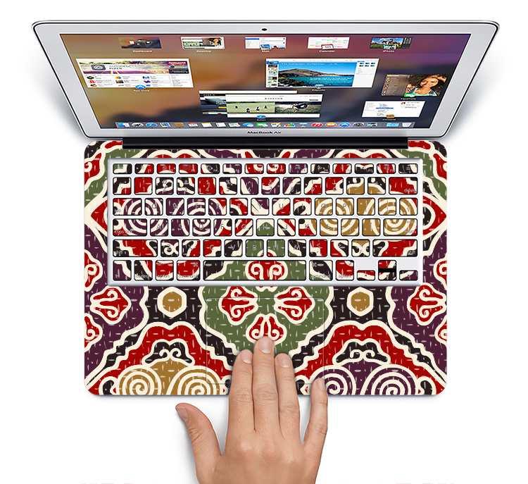 "The Creative Colorful Swirl Design Skin Set for the Apple MacBook Pro 15"" with Retina Display"