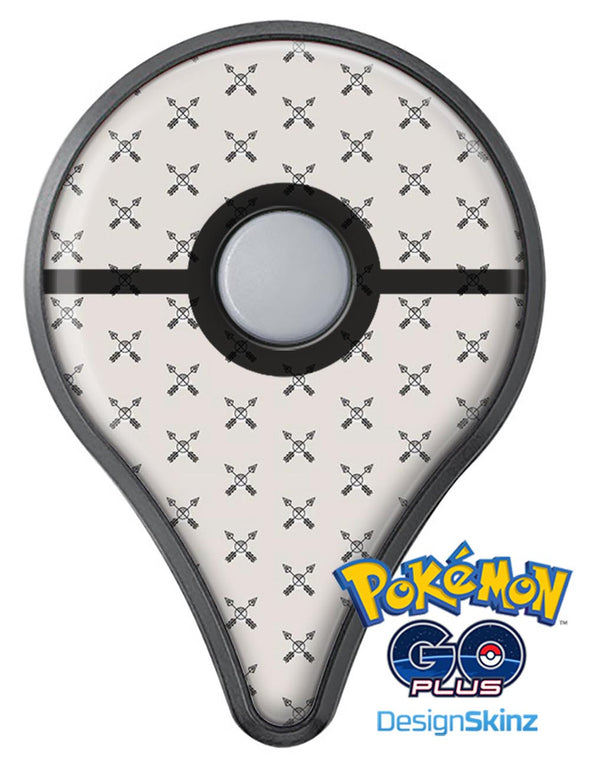 The Crossed Arrown All Over Pattern Pokémon GO Plus Vinyl Protective Decal Skin Kit