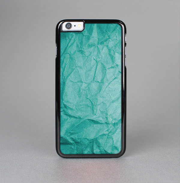 The Crumpled Trendy Green Texture Skin-Sert Case for the Apple iPhone 6 Plus