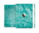 The Crumpled Trendy Green Texture Full Body Skin Set for the Apple iPad Mini 3