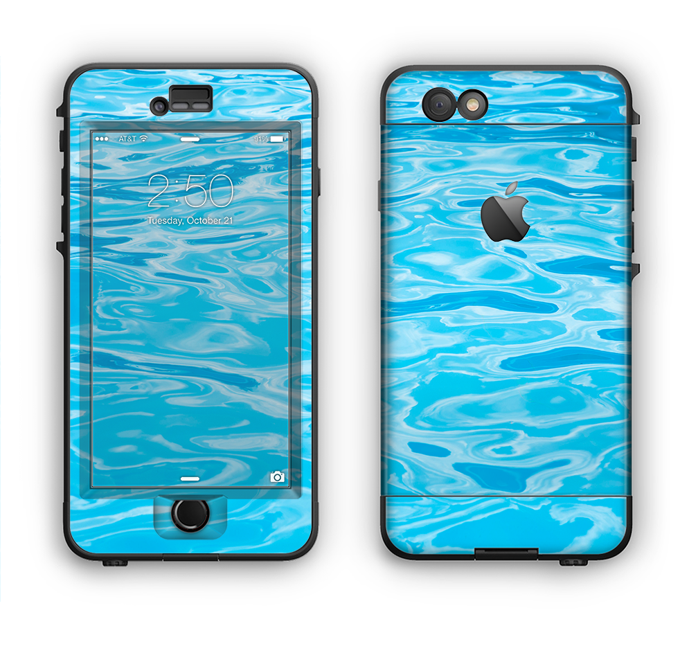The Crystal Clear Water Apple iPhone 6 LifeProof Nuud Case Skin Set