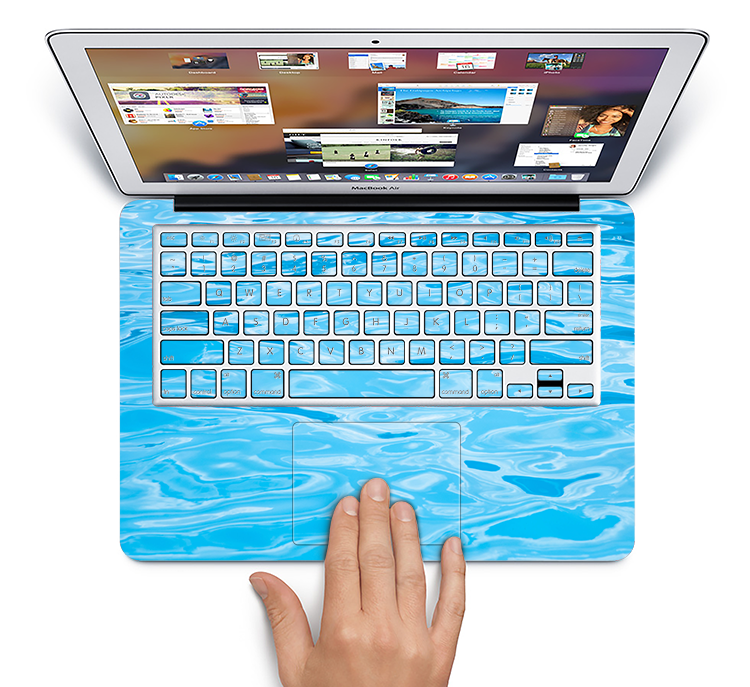 "The Crystal Clear Water Skin Set for the Apple MacBook Pro 15"" with Retina Display"