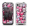 The Cute Abstract Kittens Apple iPhone 4-4s LifeProof Fre Case Skin Set