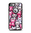The Cute Abstract Kittens Apple iPhone 6 Otterbox Defender Case Skin Set