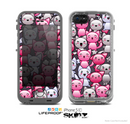 The Cute Abstract Kittens Skin for the Apple iPhone 5c LifeProof Case