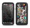 The Cute, Colorful One-Eyed Cats Pattern Samsung Galaxy S4 LifeProof Nuud Case Skin Set