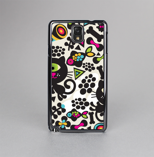 The Cute, Colorful One-Eyed Cats Pattern Skin-Sert Case for the Samsung Galaxy Note 3