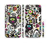 The Cute, Colorful One-Eyed Cats Pattern Sectioned Skin Series for the Apple iPhone 6 Plus