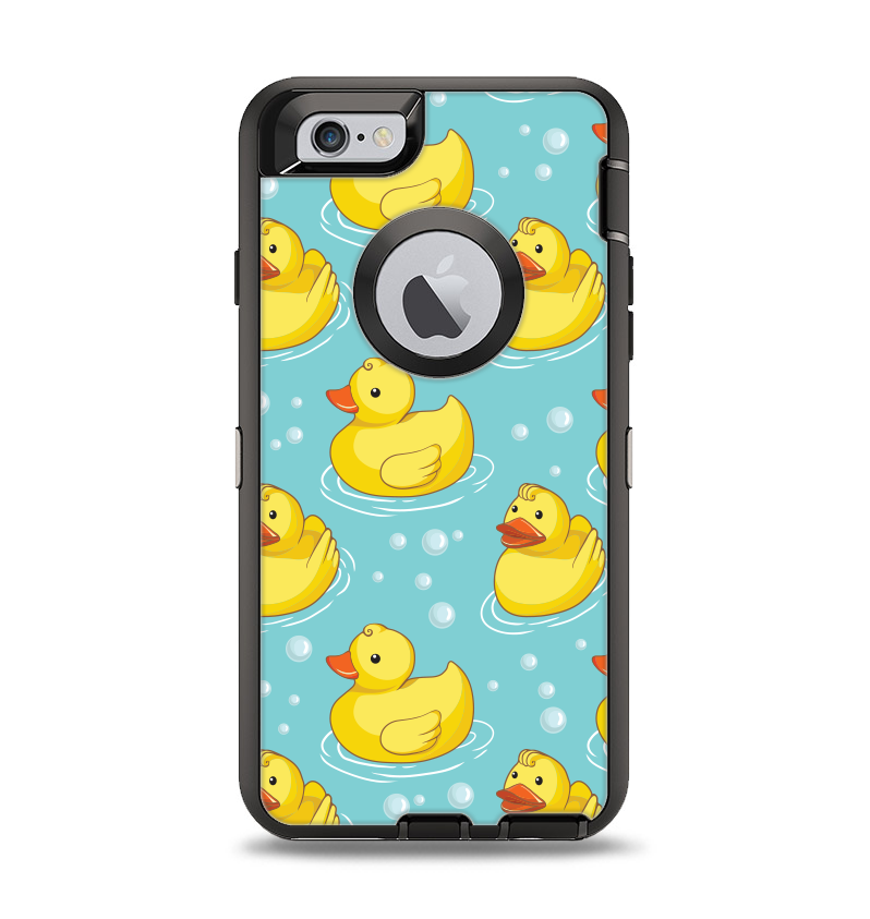 sale retailer ddbf2 0b729 The Cute Rubber Duckees Apple iPhone 6 Otterbox Defender Case Skin Set
