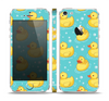 The Cute Rubber Duckees Skin Set for the Apple iPhone 5