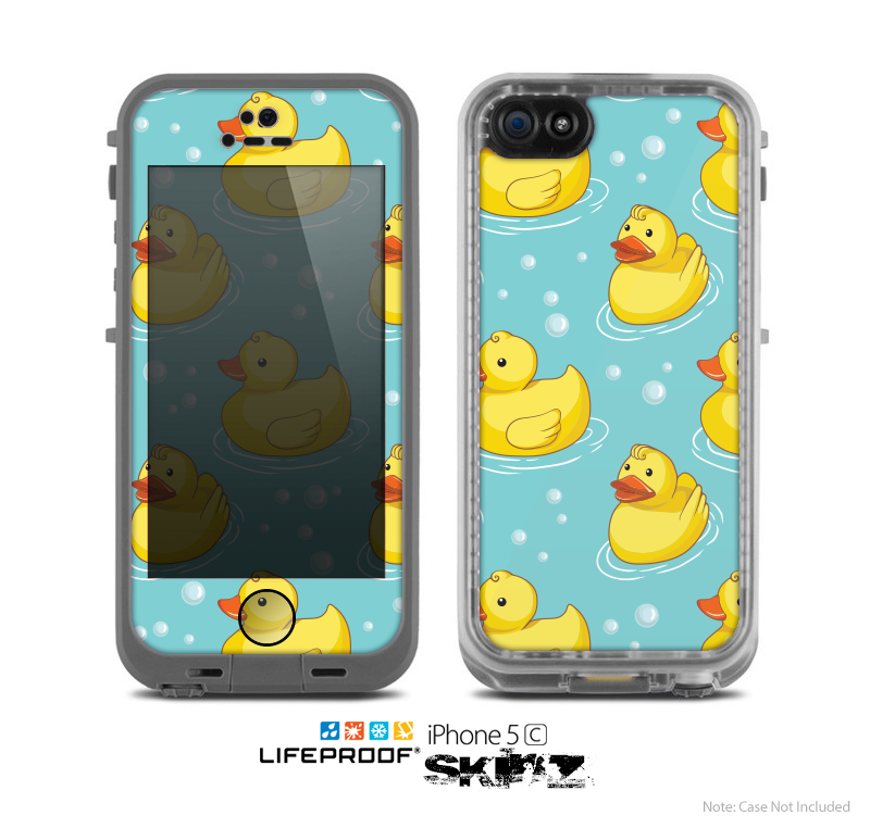 The Cute Rubber Duckees Skin for the Apple iPhone 5c LifeProof Case