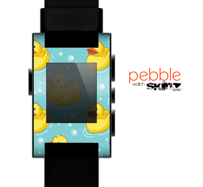 The Cute Rubber Duckees Skin for the Pebble SmartWatch