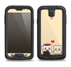 The Cute Toast & Mug Breakfast Couple Samsung Galaxy S4 LifeProof Fre Case Skin Set