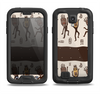 The Dancing Aztec Masked Cave-Men Samsung Galaxy S4 LifeProof Nuud Case Skin Set