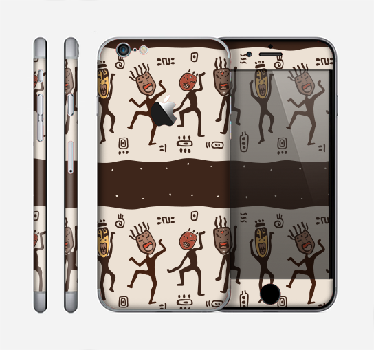 The Dancing Aztec Masked Cave-Men Skin for the Apple iPhone 6