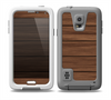 The Dark-Grained Wood Planks V4 Skin for the Samsung Galaxy S5 frē LifeProof Case
