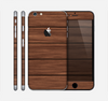 The Dark-Grained Wood Planks V4 Skin for the Apple iPhone 6 Plus